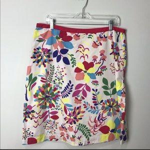 Boden Skirts - Boden floral aline skirt